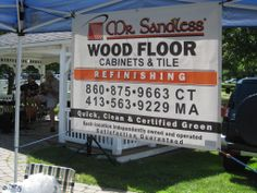 Ellington Farmers Market.  Thank you Phil Schneider owner of Mr. Sandless for supporting the market as a Market Partner. If you need your wooden floors refinished or tile grout cleaned, be sure to call Phil and support our Market Partners.  http://ellingtonfarmersmarket.com/market-partners/