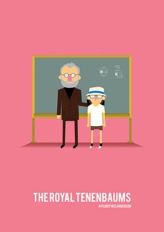 Cartoon posters for Classic & Cult Films - Royal Tennenbaums.