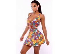 Sexy Floral Resort Beach Skirt Set