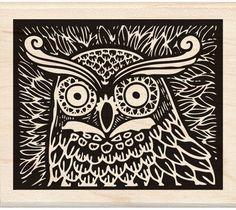 Owl Wood Stamp