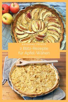 Die Apfelwähe ist ein beliebtes traditionelles  Schweizer Gericht auf dem Familientisch. Die Wähe ist klimafreundlich, einfach, schnell und preiswert zubereitet. Wir verraten euch unsere gelingsicheren Rezepte für Apfelwähen. #Apfel #Wähe #LaCucinaAngelone #DieAngelones Tasty, Yummy Food, Organic Matter, Apple Pie, Vegan, Blitz, Desserts, Cake, Recipes
