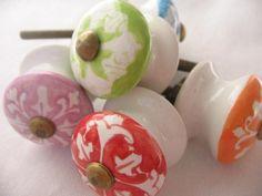 Möbelknöpfe - LILIE -  Keramik
