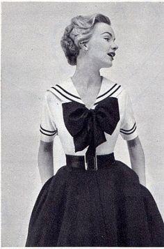 vintage sailor dress <3