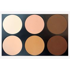 This all-in-one pressed powder/contour/highlight palette allows you to slim, contour, highlight, and complement your most beautiful features while minimizing ones you would rather conceal. The variety of powder shades are beneficial to all skin tones.