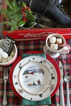 Set the Table: Baby It's Cold Outside | Southern State of Mind name of the pattern is unknown