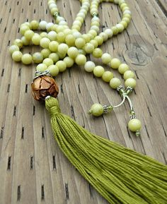 Mala Bead Necklace Gemstone Mala Beads by goodmedicinegemstone