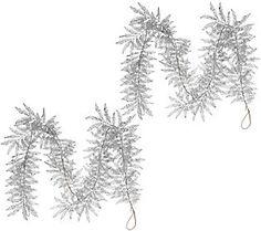 Set of 2 5' Glitter Leaf Garlands by Valerie