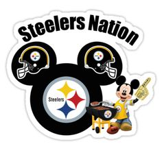 Steelers Nation football Mickey Mouse sticker by sweetsisters