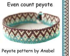 Even count peyote pattern #144 Delica bead pattern Beaded jewelry pattern Peyote bracelet pattern Instant download PDF Ethnic style Cute