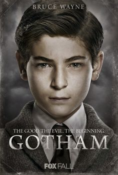 Bruce Wayne a.a Batman in his early years in Gotham. He's so adorable, and it's so good to see what batman was like in his early years rather than what he turned out be later on in life. Gotham City, Gotham Movie, Gotham Bruce, Gotham News, Gotham Tv Series, Jerome Gotham, Dc Comics, Catwoman, Live Action