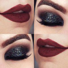 Tutorial – olho preto esfumado com glitter