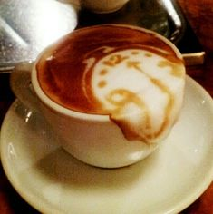Salvador Dali Soft Watch Melting Clock in Latte Art