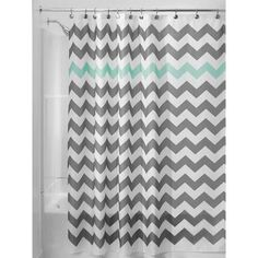 gray and aqua shower curtain - Google Search