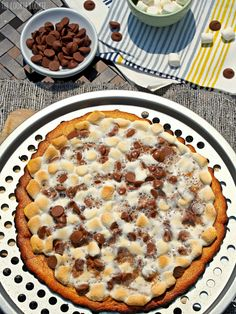 Grilled Salted Caramel S'mores Pizza Snickerdoodle Crust