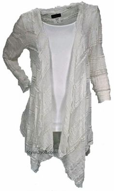Verducci Clothing Robin Lace Duster In Ivory