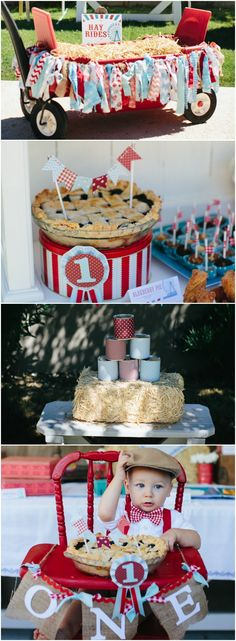 Vintage Country Fair 1st Birthday Party www.weheartparties.com