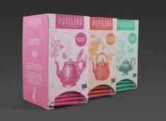 Pavilion Garden Tea Packaging - The desire to promote a product with an emphasis on its heritage can often lead to archaic aesthetic results, but Pavilion Garden Tea packaging fla...