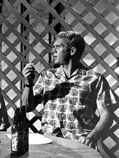 Steve McQueen in Soldier in the Rain, 1963.