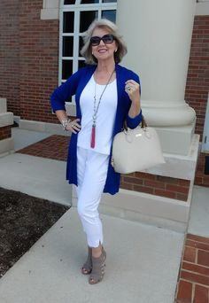 Love the message in this blog post. She dresses beautifully for any age, but especially chic for her age, great style!