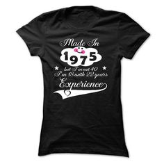 1975-22 years experience - #jean shirt #shirt for girls. CHECKOUT => https://www.sunfrog.com/Birth-Years/1975-22-years-experience-Ladies.html?68278