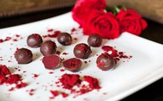 Artisan wedding chocolates are luxurious treats for reception food and wedding favors.