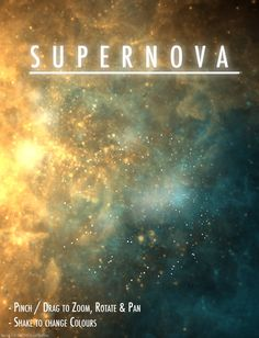 Supernova ($0.99) is an animated real time visualizer of exploding stars and nebulae.    - Watch stellar visuals in deep space as they slowly expand and contract.    - Based on a pioneering generative animation system by award winning digital artist & programmer Glenn Marshall.    - Complex algorithms continuously generate an infinite variety forms, patterns and motion.    - Perfect as visuals for any kind of music.    - iPad HD graphics quality.