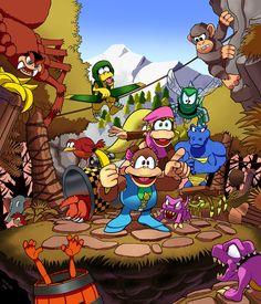 Super Nintendo, Nintendo Sega, Donkey Kong Country Returns, Marvel Cartoon Movies, Fanart, Medvedeva, Mario Party, Dc Comics Art, Video Game Art