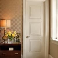 TS3000 bedroom door in MDF with custom sticking and senior raised (E) panel.