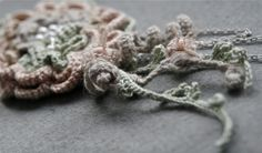 crochet brooch by Marianne Seiman