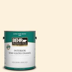 BEHR Premium Plus, 1-gal. #320A-1 Eggnog Zero VOC Semi-Gloss Enamel Interior Paint, 305001 at The Home Depot - Mobile