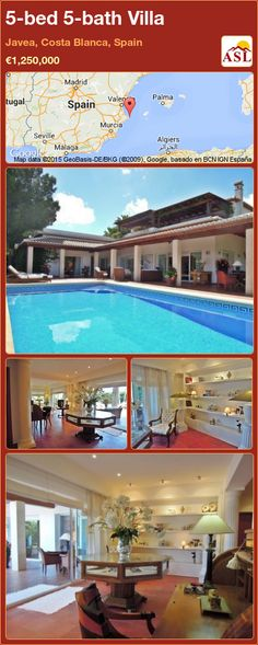 Villa for Sale in Javea, Costa Blanca, Spain with 5 bedrooms, 5 bathrooms - A Spanish Life Electric Gates, Bbq Area, Window Shutters, Private Garden, Murcia, Seville, Luxury Villa, Malaga, Swimming Pools