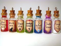 Spoonful of Sugar Bottle Necklace Mary Glass by LittleGemGirl