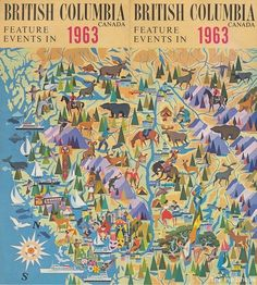 An artistic map of British Columbia from 1963.