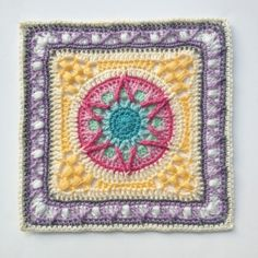 Yvaine ~ from the Lovestruck Collection by Every Trick on the Hook ~ pretty crochet square pattern