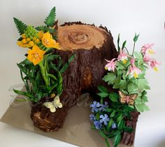 "floral "" still life "" on the stump - Cake by boxina"