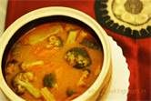 Vegetarian Thai red curry is a hot spicy dish which goes really well ...