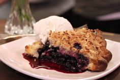 Blue Hawaiian pie with blueberries, pineapple, and coconut (my favorite!)