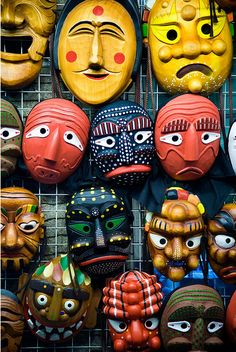 Korean Masks in the past was used for a way of expression of society, criticising the rich but witty enough to entertain audience.