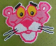 Pink Panther hama mini beads by Jose Balboa -Pattern: http://www.pinterest.com/pin/374291419004484231/