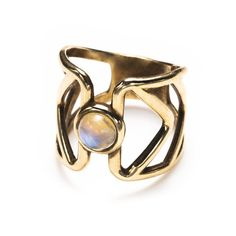 Pathway Ring in brass...because not everyone is getting engaged this weekend and you deserve a ring