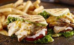 Grilled Chicken Flatbread - a fabulous pressed sandwich with a killer secret sauce. Inspired by a Longhorn Steakhouse classic. Photography by Dick Patrick Studios Chicken Avacado Sandwich, Bacon Avocado, Longhorn Steakhouse Recipes, Flatbread Sandwiches, Pressed Sandwich, Chicken Flatbread, Avocado Health Benefits, Cooking Recipes, Healthy Recipes