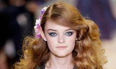 Fresh-faced: a model at the Diane Von Furstenberg Spring 2016 show at New York fashion week.