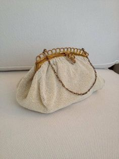 Neiman Marcus Beaded Eveving Bag in Cream  Made in by MayaVintage, $40.00