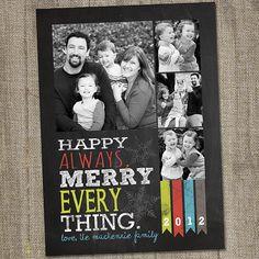 Chalkboard Happy Always Merry Everything Printable by partymonkey, $15.00
