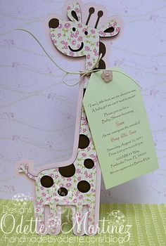 Giraffe Invitation - the cartridge I used for Marissa's baby shower :)