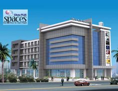 OkayPlus Spaces - The Smart office for smart people with complete RCC frames structure and Security + parking facilities. Hotel Design Architecture, Architect Design House, Hospital Architecture, Office Building Architecture, Commercial Architecture, Facade Architecture, Cladding Design, Facade Design, Commercial Building Plans