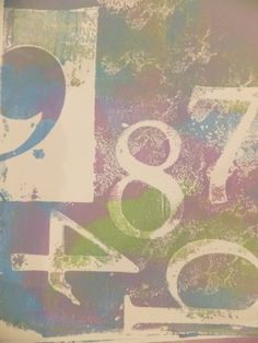 """In pursuit of the Muse blog - """"I Gelli Plated (is that a verb?) everything in sight, starting with nice acrylic paper and gradually swapping to plain printer paper because there was just no stopping me. I got out the punchinella, the chipboard alpha stencils, the bubble wrap, and alllll"""""""