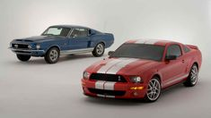 """Ford Shelby Cobra Mustang ~ then and now. I like the """"then"""" better. Shelby Cobra Gt500, Ford Mustang Shelby, Mustang 1964, Ford Motor Company, Bmw M3, Porsche 911, Corvette, Lamborghini, Volkswagen Routan"""