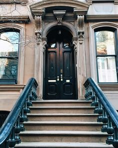 New York City has the prettiest brownstones. Major house envy in the West Village.