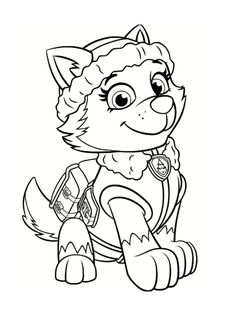 paw patrol everest coloring pages printable and coloring book to print for free. Find more coloring pages online for kids and adults of paw patrol everest coloring pages to print. Disney Coloring Pages, Christmas Coloring Pages, Coloring Pages To Print, Printable Coloring Pages, Coloring Pages For Kids, Coloring Books, Colouring, Coloring Sheets, Superhero Coloring Pages